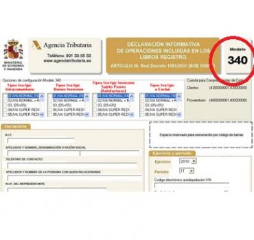 BAJA EN EL REGISTRO DEVOLUCIÓN MENSUAL – 340