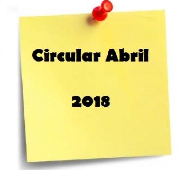 CIRCULAR ABRIL 2018 – PRESENTACION DE IMPUESTOS