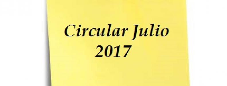 CIRCULAR JULIO – PRESENTACIÓN DE IMPUESTOS