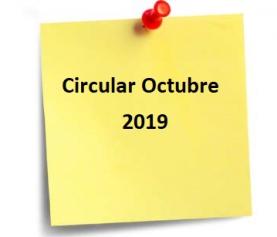CIRCULAR OCTUBRE 2019