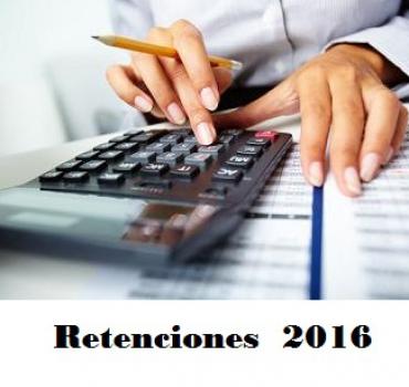 RETENCIONES PARA  2016